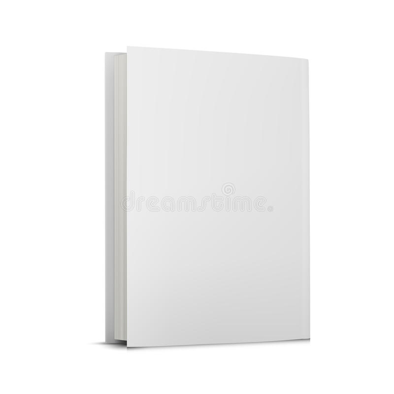 Blank book cover over royalty free illustration