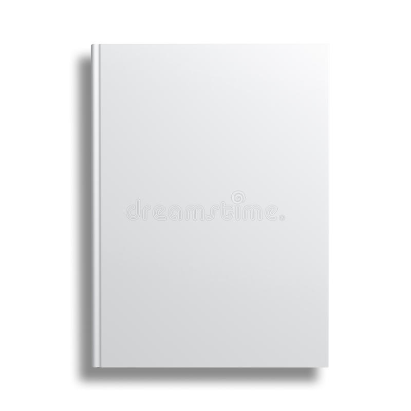 Book Cover Template Doc : Blank book cover over white background stock illustration