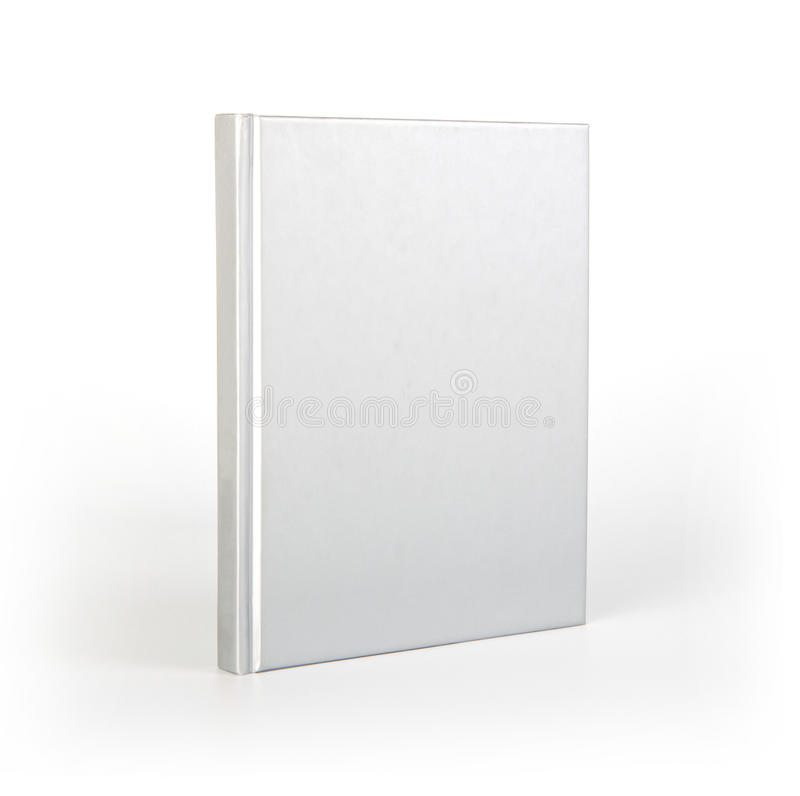 Blank book cover over white background with shadow. stock images