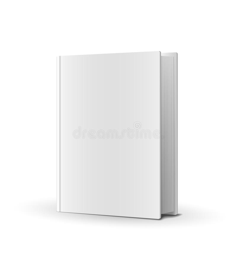 Blank book cover over white vector illustration