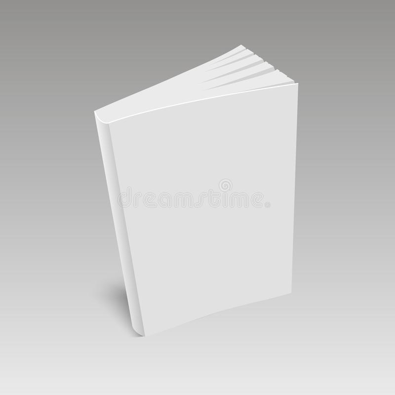 Blank book cover standing on white backgroun. Vector.  vector illustration