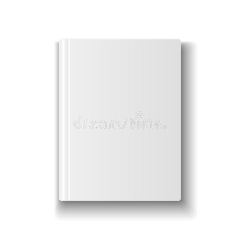 Blank book cover template on white background with stock for Book cover template illustrator