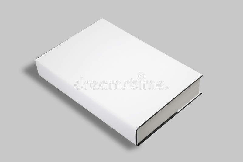 Blank Book Cover W Clipping Path Stock Images