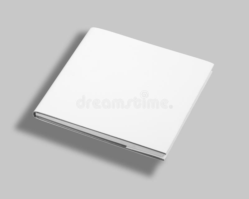 Blank book cover w clipping path stock photos