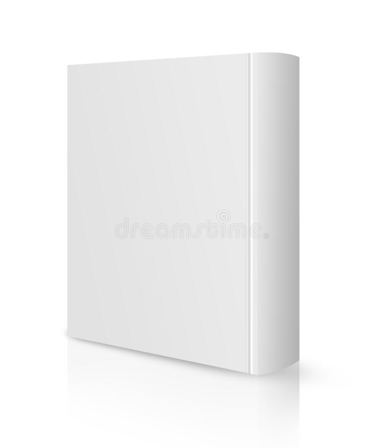 Blank book cover white vector illustration