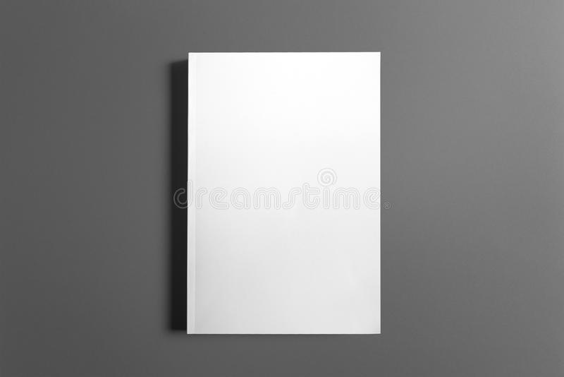 Blank book isolated on grey royalty free stock photos