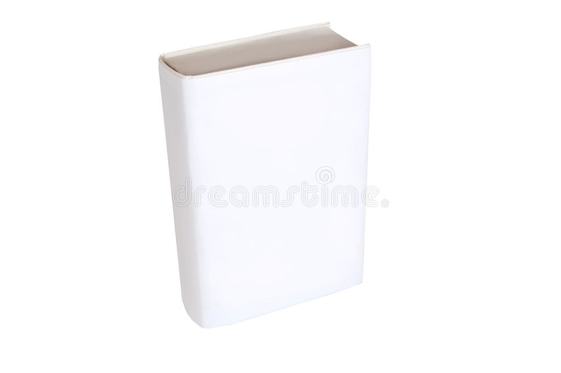 Blank Book Isolated On White Background Stock Photos