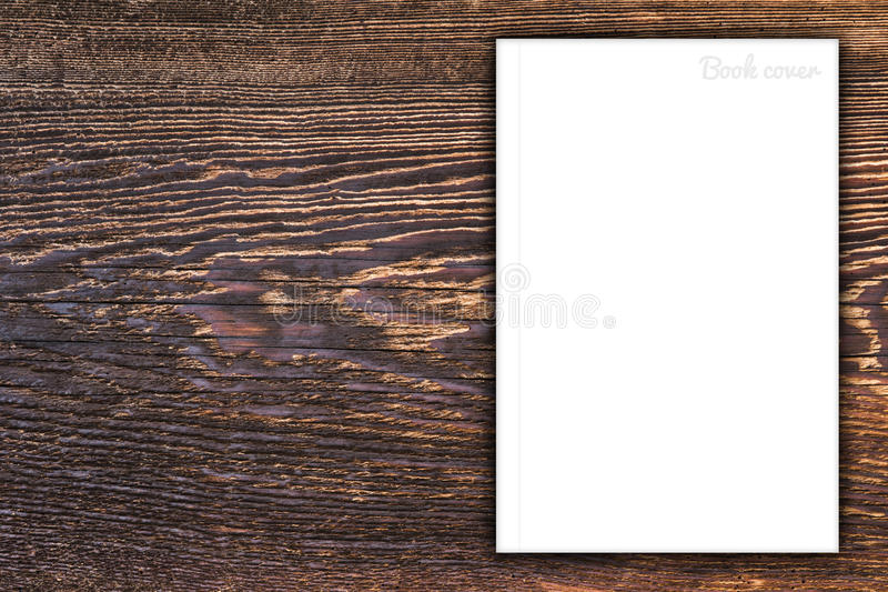 Blank book or magazine cover stock images