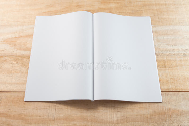 Blank book or magazines stock photo