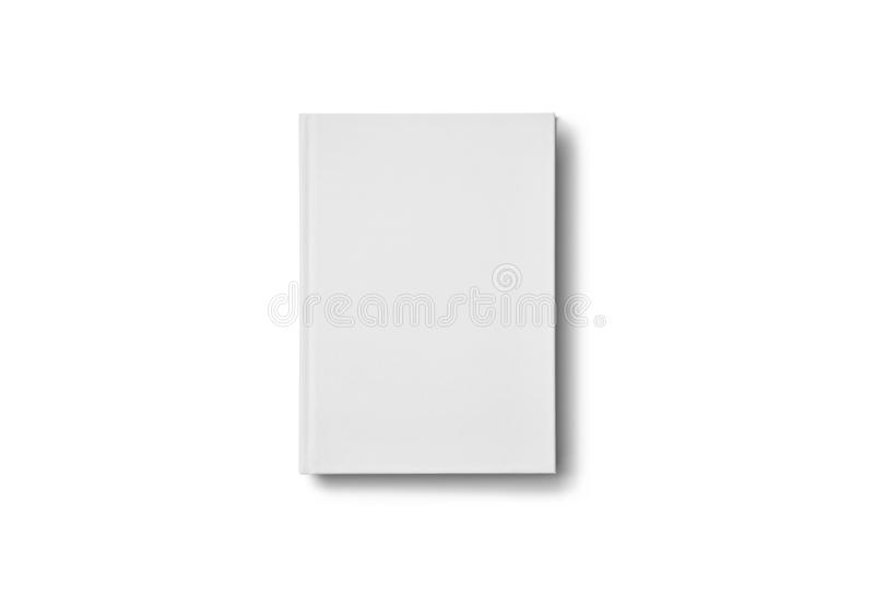 Blank book mockup on white background. stock images
