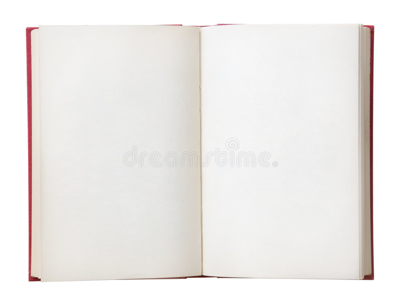 Blank Book Open stock images