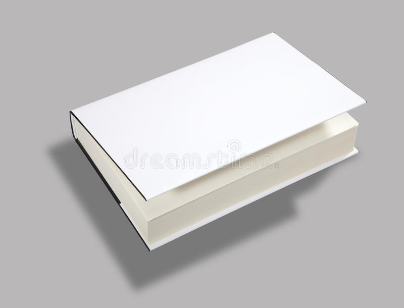 Blank Book Open Cover W Clipping Path Royalty Free Stock Images