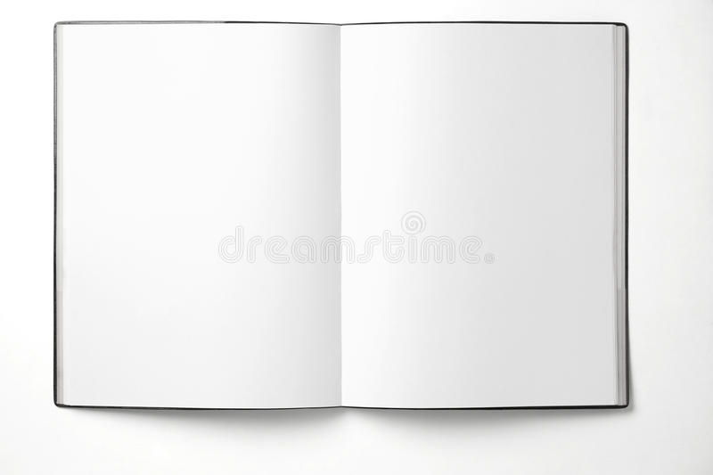 Blank book. Blank open Book. Blank page of book stock photo