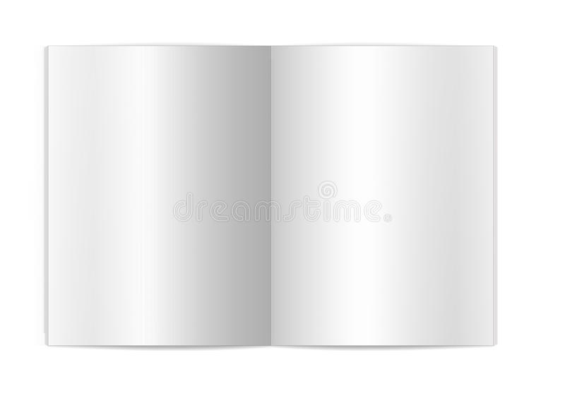 Blank book page stock image