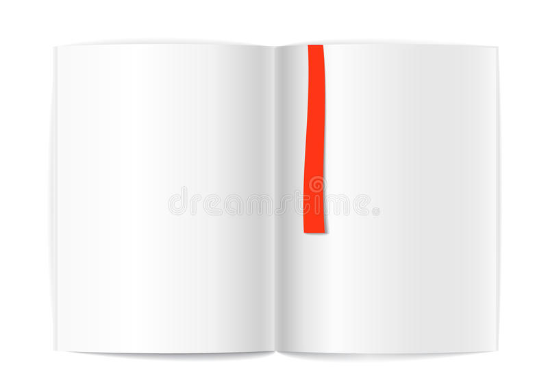 Download Blank Book Pages And Bookmark Stock Vector - Image: 22147312