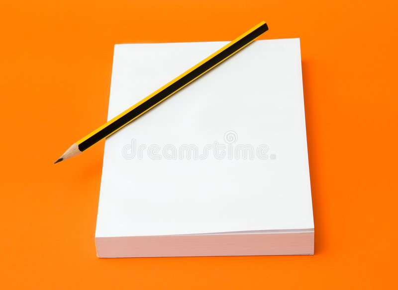Download Blank Book And Pencil Stock Image - Image: 6449781