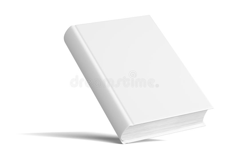 Blank Book With Shadows. Mock Up Template stock image