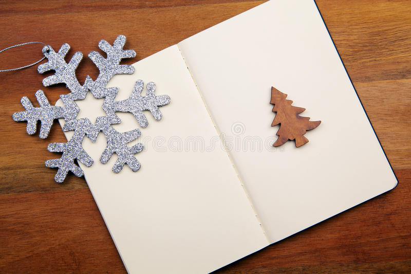 Download Blank Book With Snowflake stock image. Image of merry - 17216667