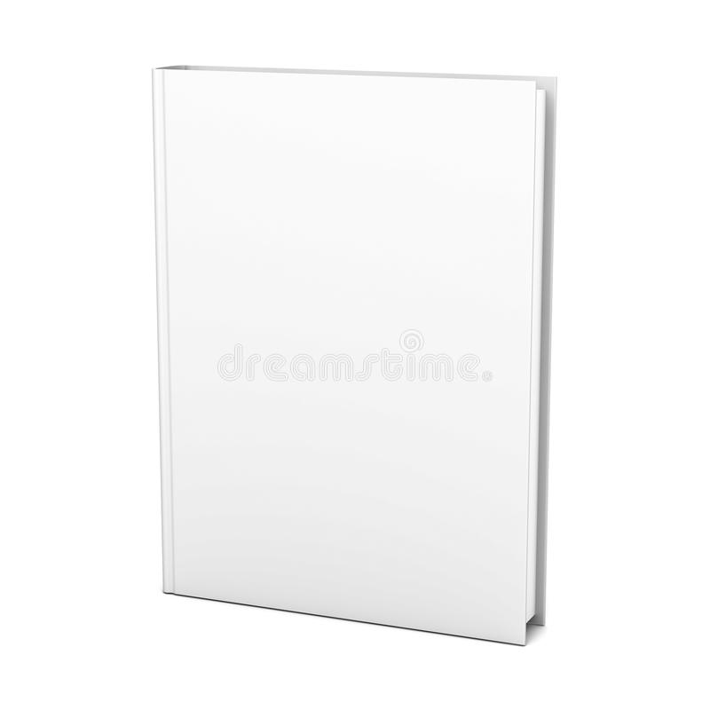 Blank book on white background vector illustration