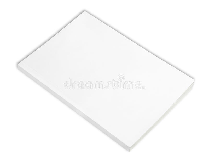 Blank book with white cover royalty free stock photos