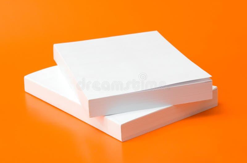 Blank books stock photography