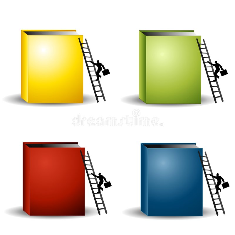 Download Blank Books Business Ladders Stock Illustration - Illustration of figures, illustrations: 5613294