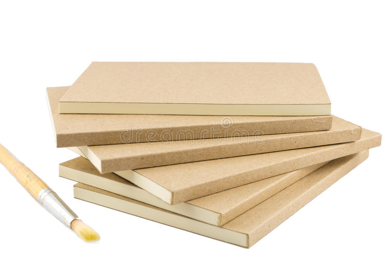Blank Book Cover Drawing ~ Blank books for writing and drawing with paint brush stock