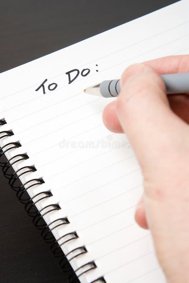 blank bounden gör anteckningsbokspiral till writing royaltyfri bild