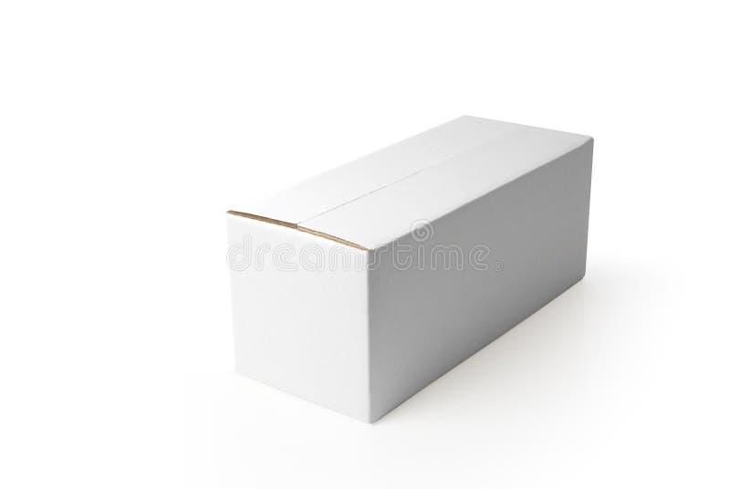 Blank box. Closed rectangular blank isolated box on white background stock image