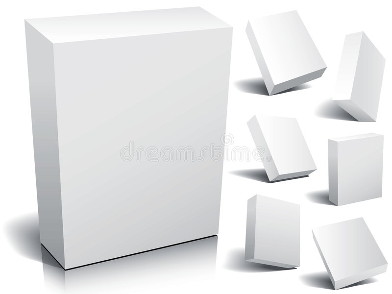 Blank box stock illustration