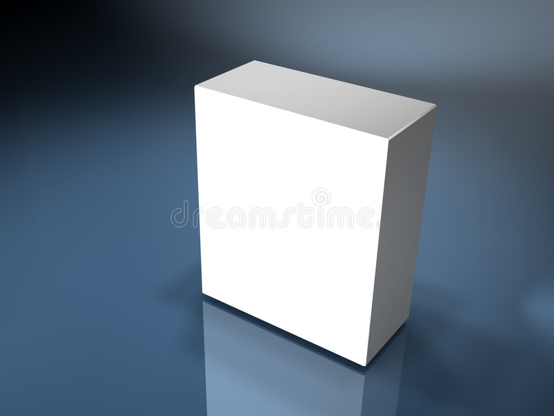Blank box stock photography