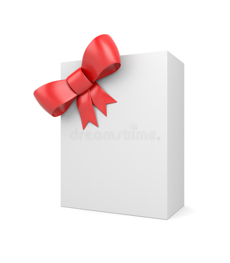 Download Blank box with bow stock illustration. Image of celebrate - 18059352