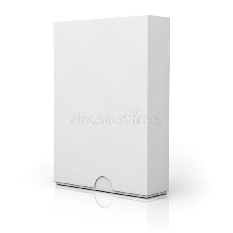 Blank box with cover on white stock illustration