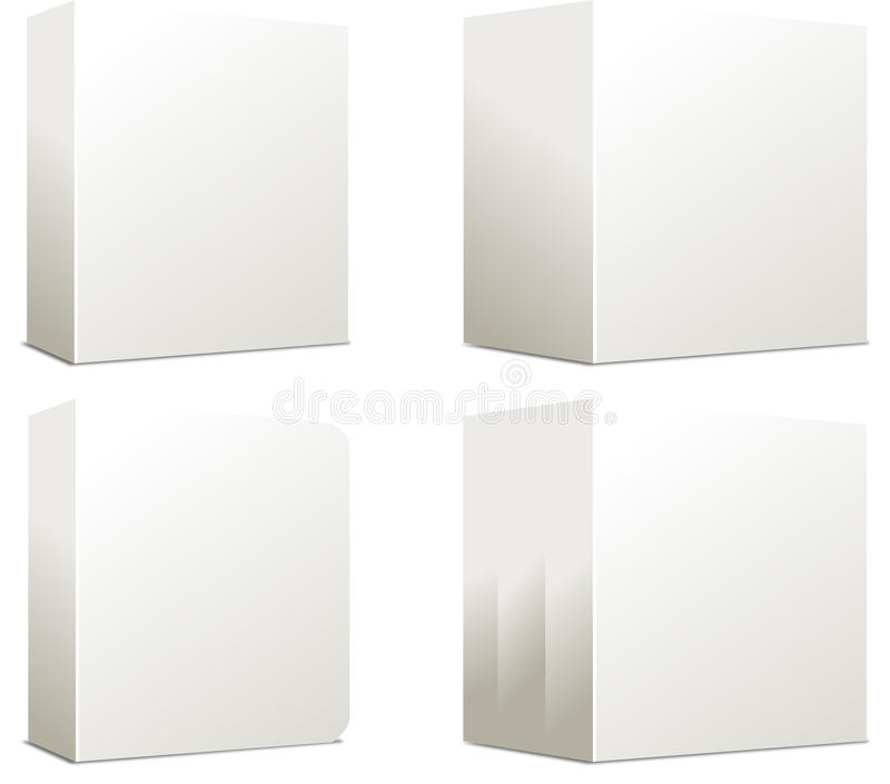Blank Boxes stock illustration