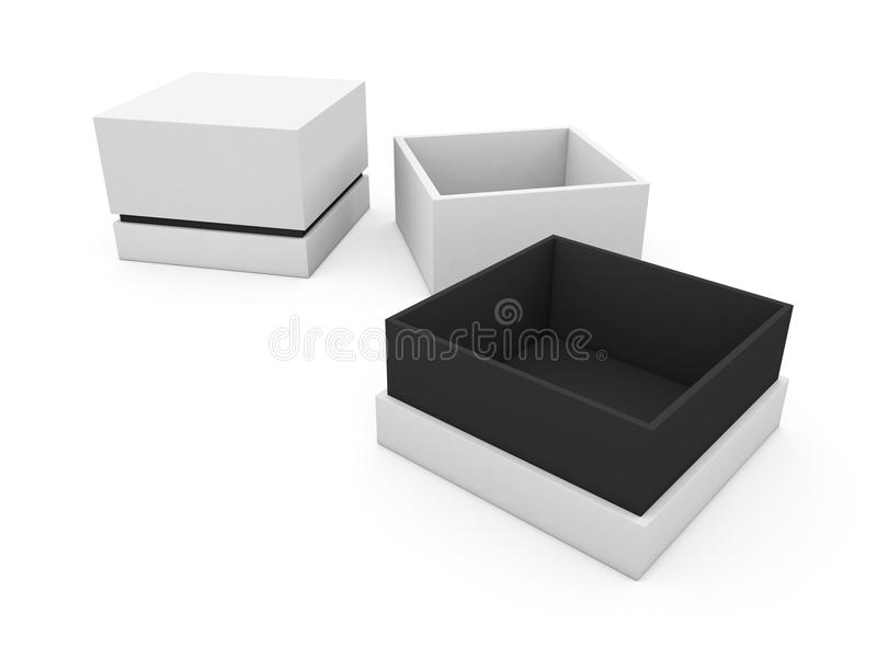 Blank boxes vector illustration