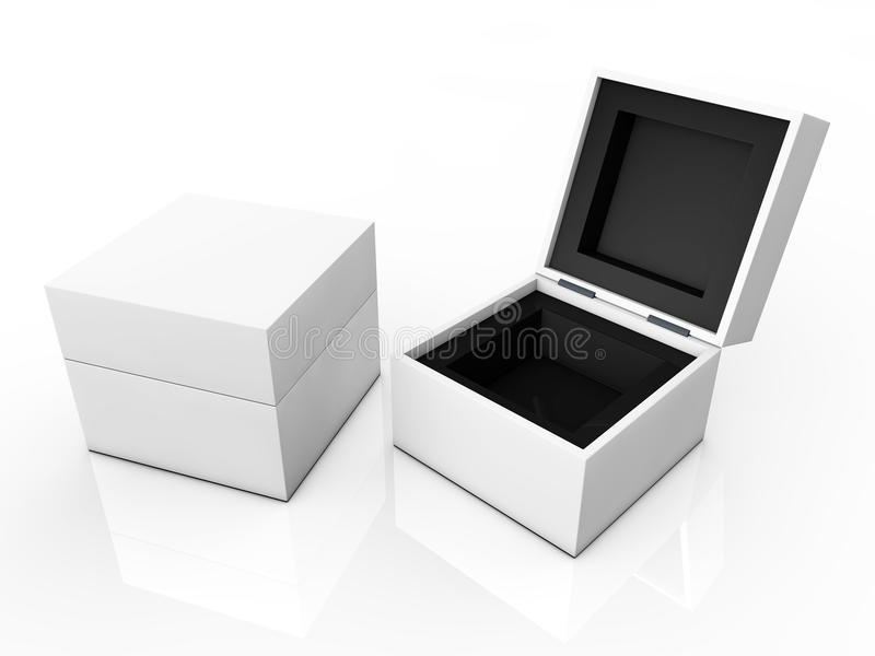 Blank boxes royalty free illustration