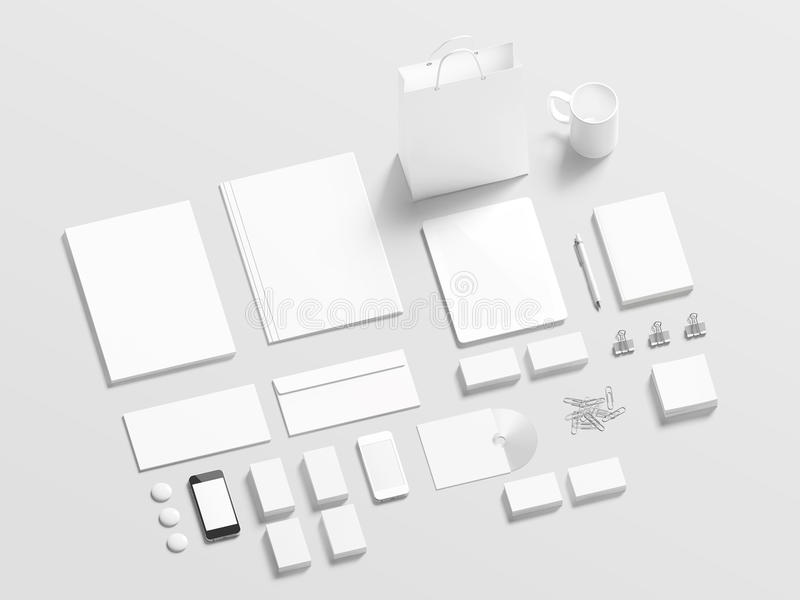 Blank branding elements to replace your design vector illustration