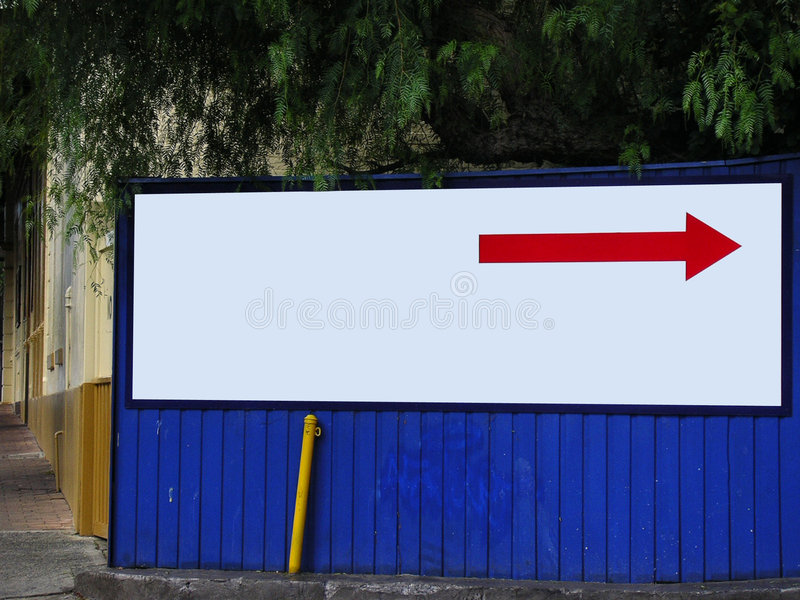 Blank bright billboard sign royalty free stock photo