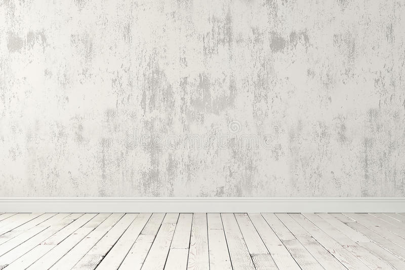Blank bright room stock image