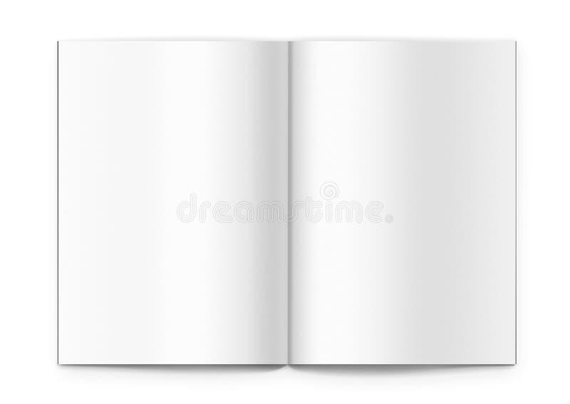 Blank brochure vector illustration