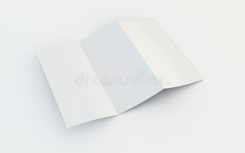 Download Blank brochure stock illustration. Image of bifold, blank - 6335560