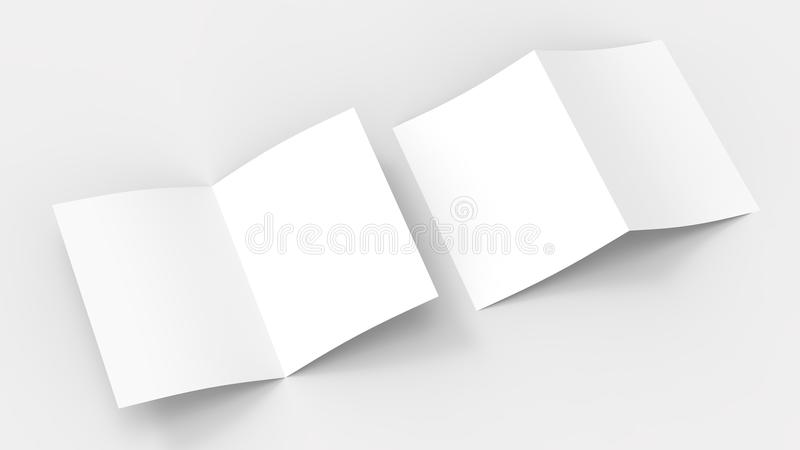 Blank brochure magazine mock up isolated on soft gray background vector illustration
