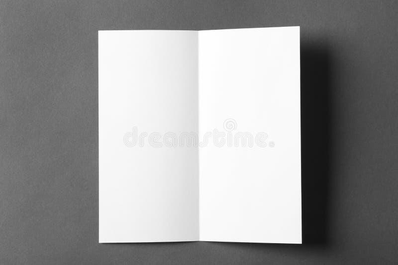 Blank brochure mock up. On color background stock images