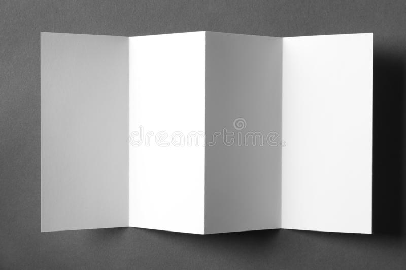 Blank brochure mock up. On color background royalty free stock photos