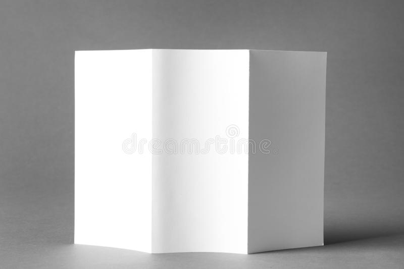 Blank brochure mock up. On color background royalty free stock images