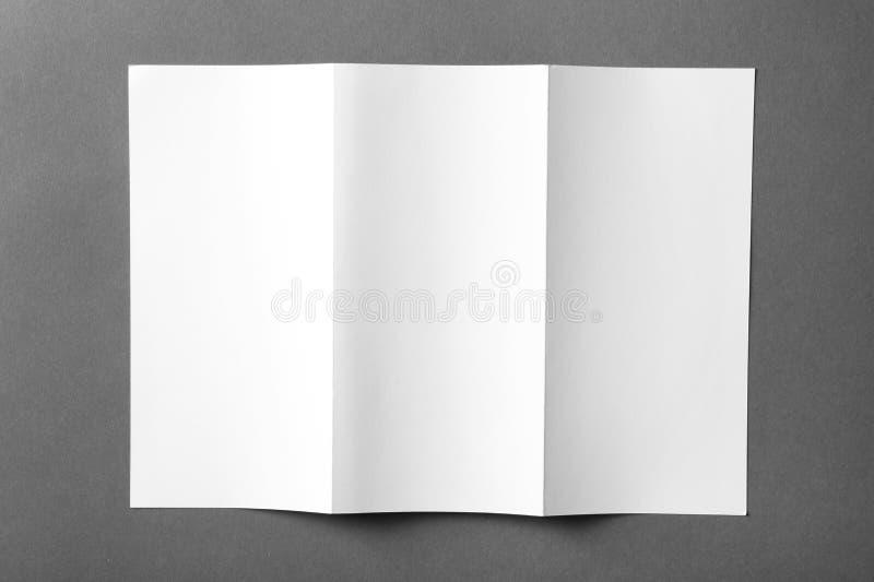 Blank brochure mock up. On color background stock image