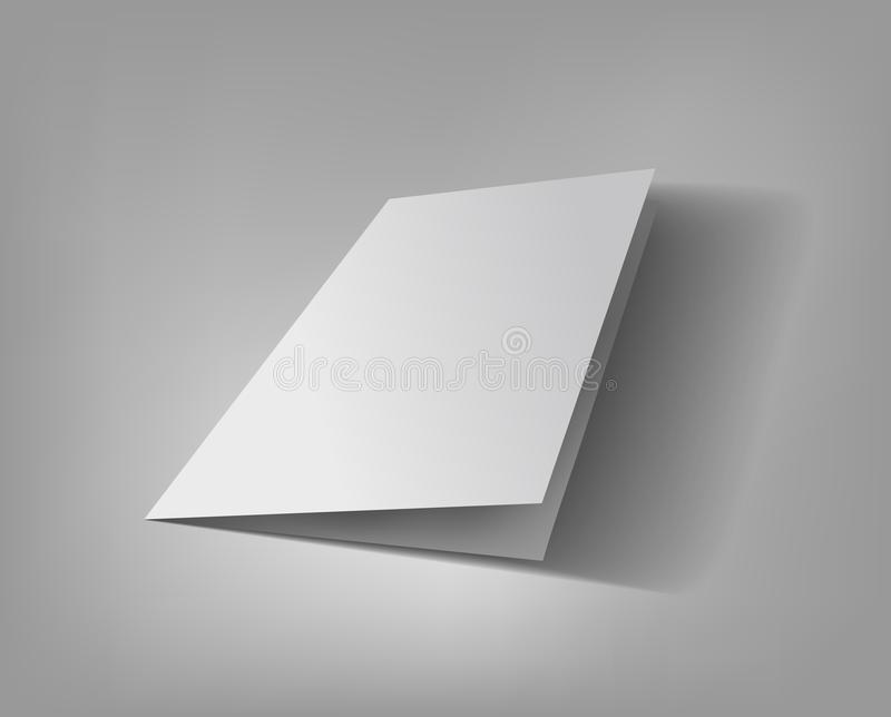 Blank brochure vector 3d Illustration royalty free stock image