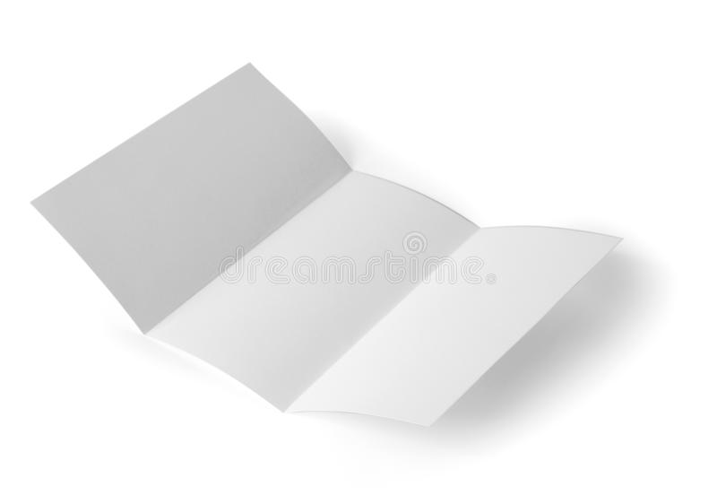 Blank brochure on background. Mock up for design. Blank brochure on white background. Mock up for design stock photos