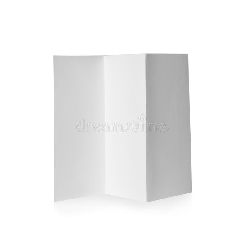 Blank brochure on white background. Mock up for design royalty free stock images
