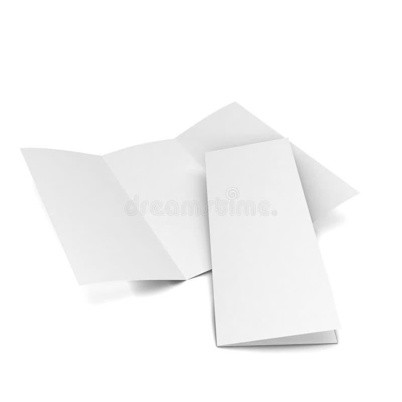 blank broschyren royaltyfri illustrationer